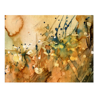 Abstract watercolor and old background postcard