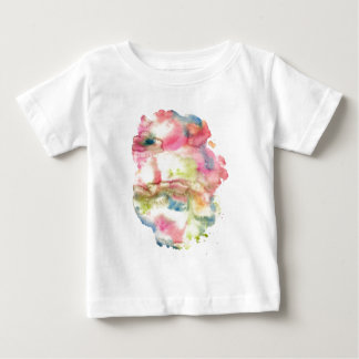 Abstract watercolor art hand paint on white backgr baby T-Shirt