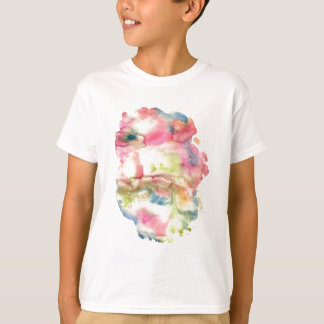Abstract watercolor art hand paint on white backgr T-Shirt