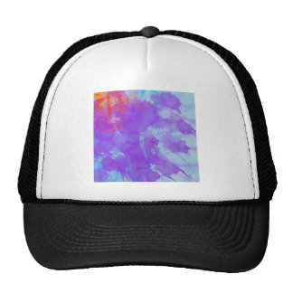 Abstract Watercolor Art Violet, Blue,Red, Yellow Trucker Hat