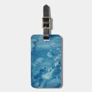 Abstract Watercolor Background Luggage Tag
