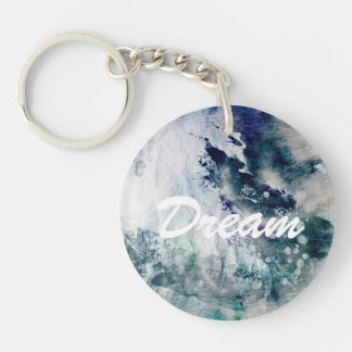 Abstract watercolor background on grunge paper 2 keychain