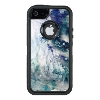 Abstract watercolor background on grunge paper 2 OtterBox iPhone 5/5s/SE case