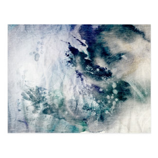Abstract watercolor background on grunge paper 2 postcard