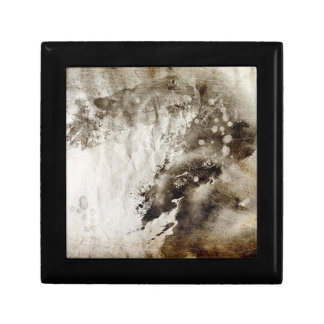 Abstract watercolor background on grunge paper jewelry box