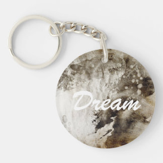 Abstract watercolor background on grunge paper keychain