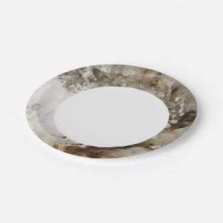 Abstract watercolor background on grunge paper paper plate