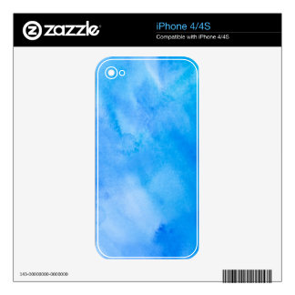 Abstract Watercolor Background Decal For iPhone 4
