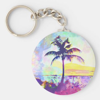 Abstract Watercolor - Beach Sunset I Keychain