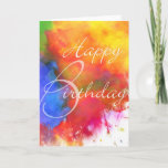 """Abstract Watercolor Birthday Card<br><div class=""""desc"""">A colorful digital abstract watercolor birthday card for someone who puts Color into Your Life!.</div>"""