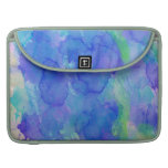 Abstract Watercolor Blue, Emerald, Green, Violet Sleeves For MacBook Pro