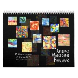 Abstract Watercolor Calendar