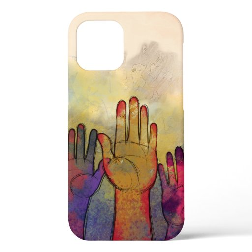 Abstract Watercolor Colorful Hands iPhone Case