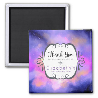 Abstract Watercolor Cosmic Space Design Thank You Magnet