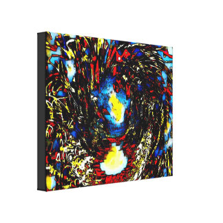 Abstract Watercolor Disable Single Wrapped Canvas