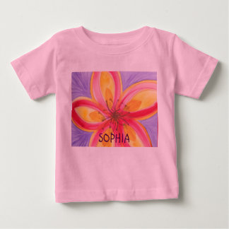 Abstract watercolor flower baby T-Shirt