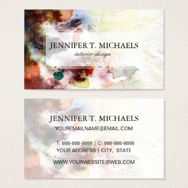 watercoloring Abstract watercolor grunge texture with paint business card