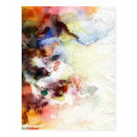 Abstract watercolor grunge texture with paint postcard