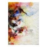 Abstract watercolor grunge texture with paint poster