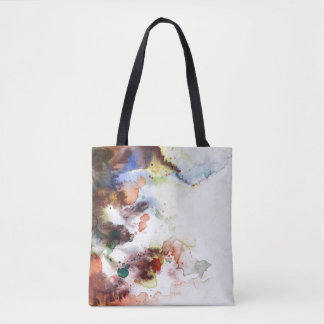Abstract watercolor grunge texture with paint tote bag