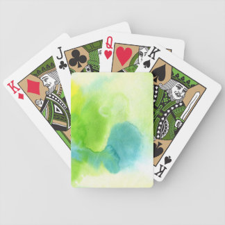 Abstract watercolor hand painted background 16 bicycle playing cards