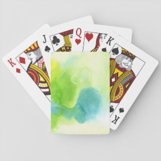 Abstract watercolor hand painted background 16 poker cards