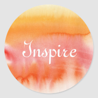 Abstract watercolor hand painted background 17 classic round sticker