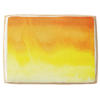 Abstract watercolor hand painted background 2 3 shortbread cookie