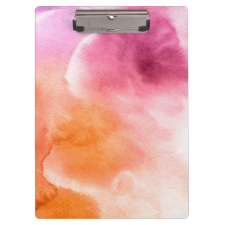 Abstract watercolor hand painted background 3 3 clipboards