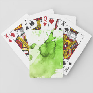 Abstract watercolor hand painted background 3 3 playing cards