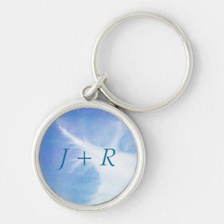 Abstract watercolor hand painted background 4 keychain