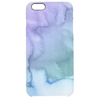 Abstract watercolor hand painted background 6 clear iPhone 6 plus case