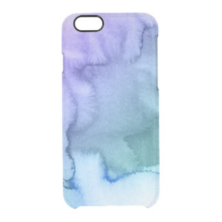 Abstract watercolor hand painted background 6 uncommon clearly™ deflector iPhone 6 case
