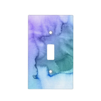 Abstract watercolor hand painted background 6 light switch cover