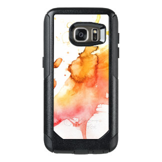 Abstract watercolor hand painted background 6 OtterBox samsung galaxy s7 case