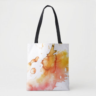 Abstract watercolor hand painted background 6 tote bag