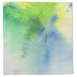 Abstract watercolor hand painted background 8 cloth napkins
