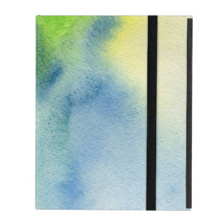 Abstract watercolor hand painted background 8 iPad folio case