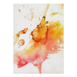 Abstract watercolor hand painted background poster