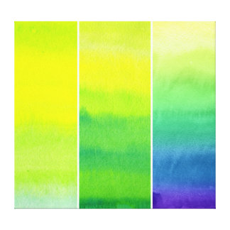 Abstract watercolor hand painted backgrounds set canvas print