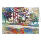 Abstract Watercolor Landscape Happy Birthday Card