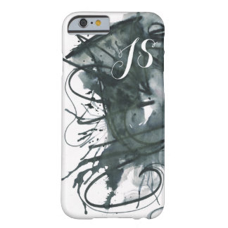 Abstract Watercolor Monogram Barely There iPhone 6 Case
