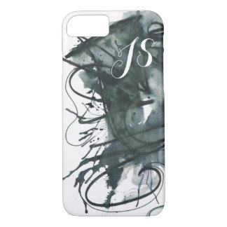 Abstract Watercolor Monogram iPhone 7 Case