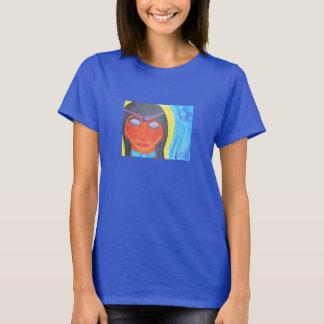 Abstract watercolor of Meditating Priestess T-Shirt