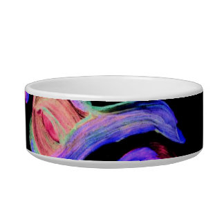 Abstract watercolor on black background bowl