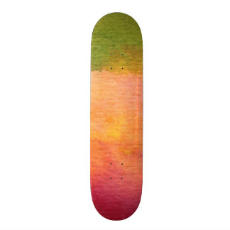 Abstract watercolor painted background skateboard deck