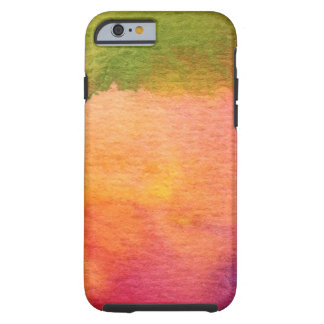 Abstract watercolor painted background tough iPhone 6 case