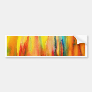 Abstract watercolor painting - fire flame bumper sticker