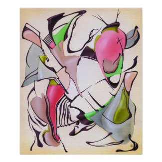 Abstract watercolor painting poster
