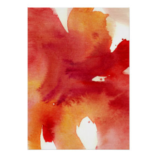 Abstract watercolor paintings poster